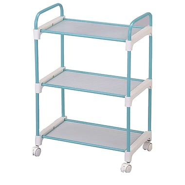 Ore International® Stainless Steel 3-Tier Utility Cart, Light Blue (NBLU-1002)