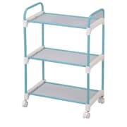 Ore International® Stainless Steel 3-Tier Utility Cart, Light Blue (NBLU-1002)