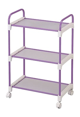 Ore International® 3 Tier Utility Cart, Lavender