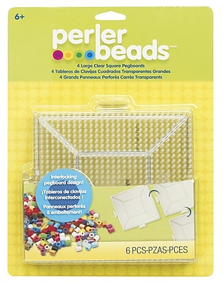 Perler® Large Fun Fusion Pegboards, Clear, 4/Pack
