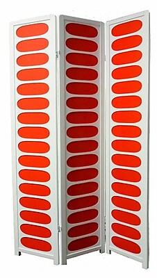 Ore International® 3 Panel Wood Room Divider, 70 1/4