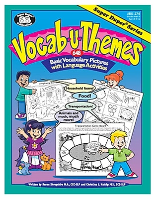 Super Duper® Vocab-U-Themes Language Activity Book, Grades PreK-3