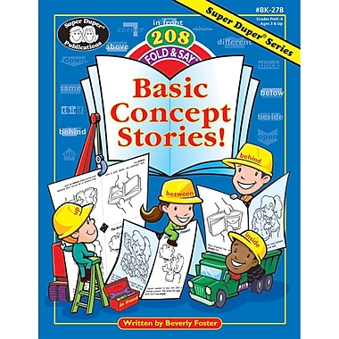 Super Duper® 208 Fold & Say® Basic Concept Stories Book, Grades PreK-3