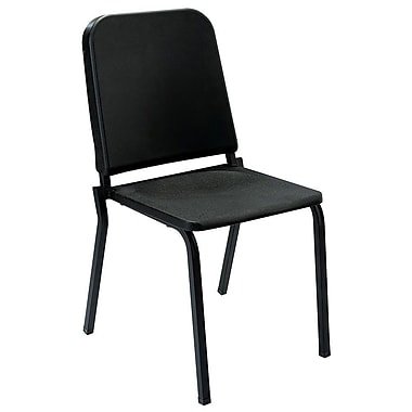 NPS® Polypropylene Melody Stack Chair, Black, 4/Pack