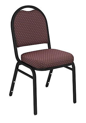 NPS® Pattern Fabric Padded Dome Stack Chair, Diamond Burgundy/Black Santex
