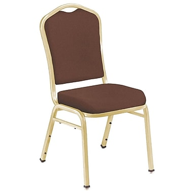 NPS® Silhouette Solid Fabric Stack Chair, Rich Maroon/Gold