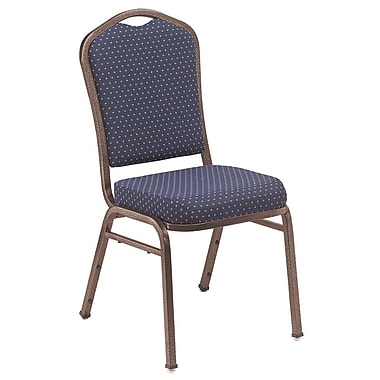 NPS® Silhouette Pattern Fabric Stack Chair, Diamond Navy/Coppervein