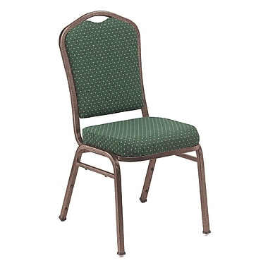 NPS® Silhouette Pattern Fabric Stack Chair, Diamond Green/Coppervein