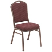 NPS® Silhouette Pattern Fabric Stack Chair, Diamond Burgundy/Coppervein