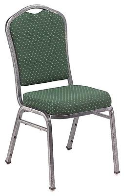 NPS® Silhouette Pattern Fabric Stack Chair, Diamond Green/Silvervein