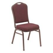 NPS® Silhouette Pattern Fabric Stack Chair, Diamond Burgundy/Silvervein