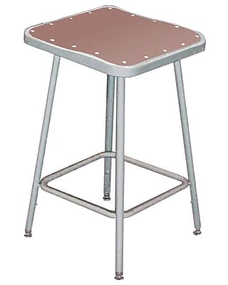 """""NPS 18"""""""" Hardboard Square Stool, Gray"""""" 310833"