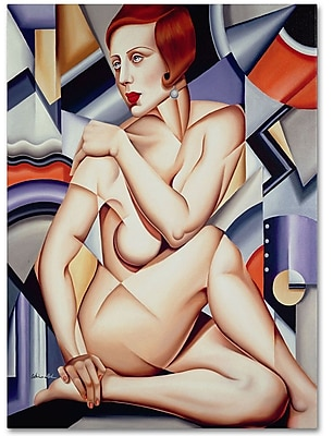 Trademark Fine Art 'Cubist Nude Orange and Purple' 14
