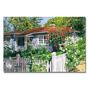 """Trademark Fine Art 'Rose Cottage' 18"""" x 24"""" Canvas Art"""