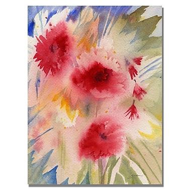 Trademark Fine Art 'Sunny Red Flowers' 18