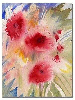Trademark Fine Art 'Sunny Red Flowers' 24