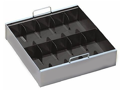 MMF Industries™ STEELMASTER® Ten-Compartment Currency Tray, Gray, 3 1/2