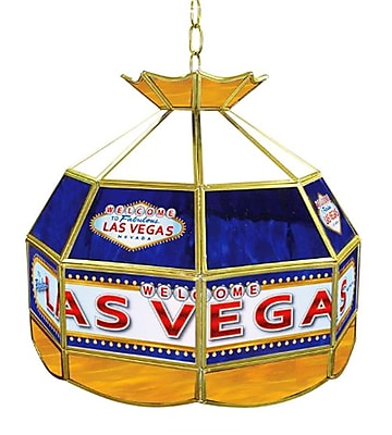 "Trademark Global® 16"" Stained Glass Tiffany Lamp, Las Vegas"