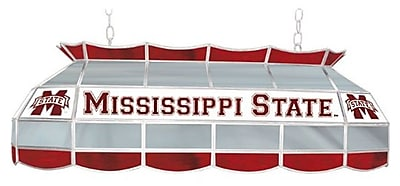 """Trademark Global® 40"""" Stained Glass Tiffany Lamp, Mississippi™ State Univ. NCAA"""