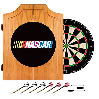 Trademark Global® Solid Pine Dart Cabinet Set, NASCAR