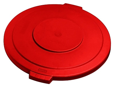 Carlisle Polyethylene Lid for 55 gal. Bronco Series Container, Red