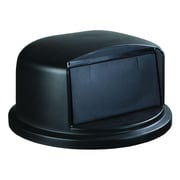 Carlisle Polyethylene Dome Lid for 32 gal. Bronco Series Container, Black