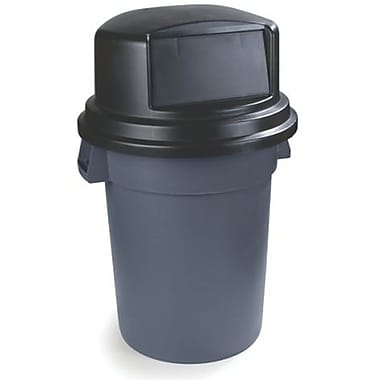 Carlisle Polyethylene Dome Lid for 44 & 55 gal. Bronco Series Container, Black