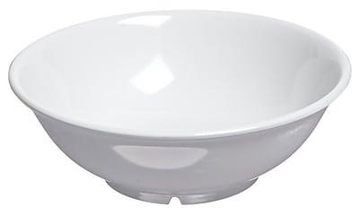 Carlisle 4373802 36 oz. Melamine Footed Serving Bowl, White
