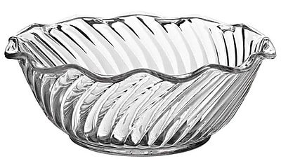 Carlisle 453407 13 oz. Polycarbonate Tulip Bowl, Clear
