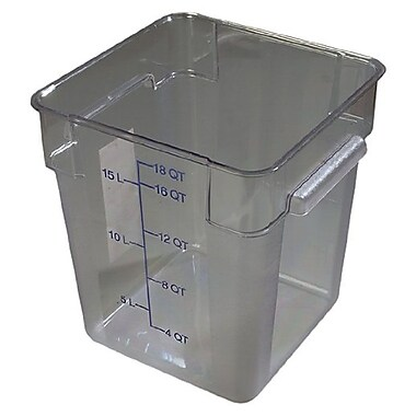 Carlisle 10725-07, 18 qt Square Food Containers