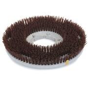 "Carlisle 361700G70-5N, 17"" D Brown Grit Concrete Floor Care Brush"