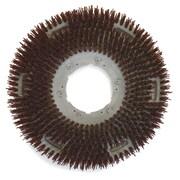 "Carlisle 361300G70-5N, 13"" D Brown Grit Concrete Floor Care Brush"