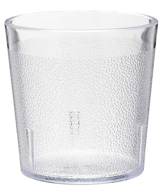 Carlisle 5529-207, 9 oz Old Fashion SAN Stackable Tumbler, Clear