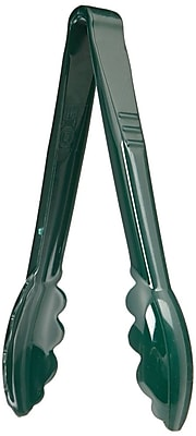 Carlisle 4709-08, 9'' Plastic Carly® High-Heat Utility Tongs, Forest Green
