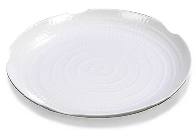 Carlisle 14'' Round Textured Platter, White