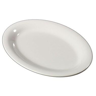 Carlisle Sierrus 12'' x 9.25'' Oval Platter, Bone