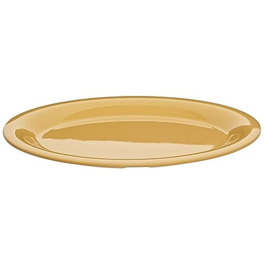 Carlisle Sierrus 12'' x 9.25'' Oval Platter, Honey Yellow