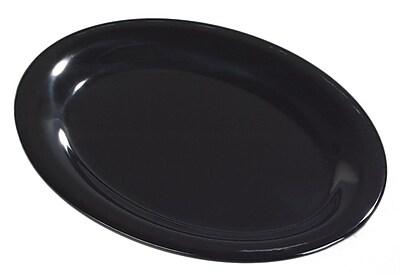 Carlisle Sierrus 12'' x 9.25'' Oval Platter, Black