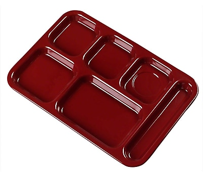 Carlisle 4398885, Right-Hand Heavy Weight Compartment Tray, Dark Cranberry