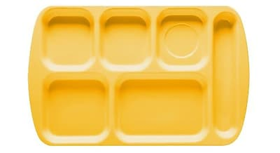 Carlisle 4398834, Right-Hand Heavy Weight Compartment Tray, Bright Yellow