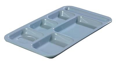 Carlisle 4398259, Right Hand 6-Compartment Melamine Tray, Slate Blue