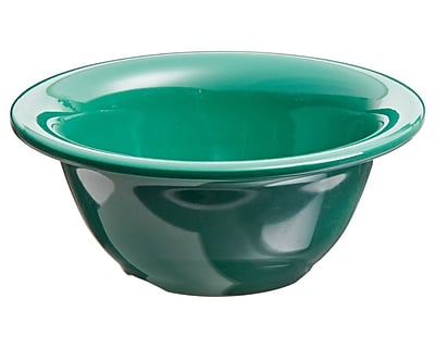 Carlisle Sierrus 10 oz, 5.38'' Rimmed Nappie Bowl, Meadow Green