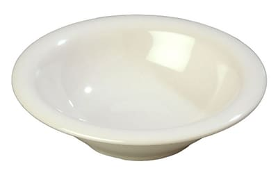 Carlisle Sierrus 12 oz, 7.25'' Rimmed Bowl, Bone