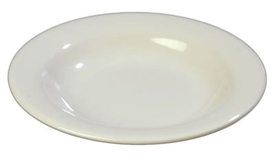 Carlisle Sierrus 13 oz, 9.25'' Pasta/Soup/Salad Bowl, Bone