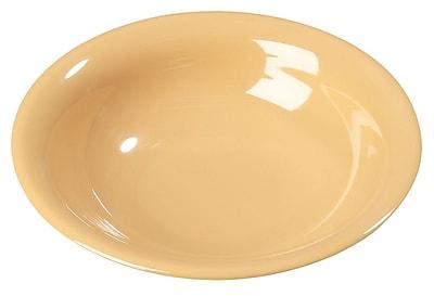 Carlisle Sierrus 16 oz, 7.5'' Rimmed Bowl, Honey Yellow