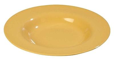 Carlisle Sierrus 20 oz, 12'' Chef Salad/Pasta Bowl, Honey Yellow