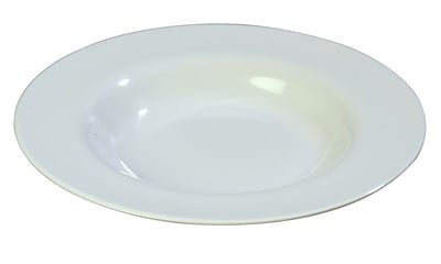 Carlisle Sierrus 20 oz, 12'' Chef Salad/Pasta Bowl, White