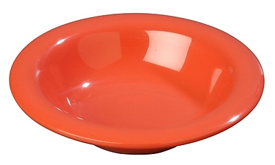 Carlisle Sierrus 6 oz, 6'' Rimmed Bowl, Sunset Orange