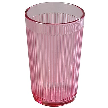 Carlisle 8 oz Crystalon® Stack-All® SAN Tumbler, Rose