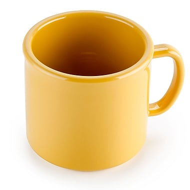 Carlisle 10 oz, 3.25'' PC Stackable Mug, Honey Yellow